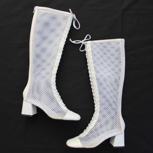 Jeffrey Campbell Mesh Joe Lace Up Joe Boot 7 8